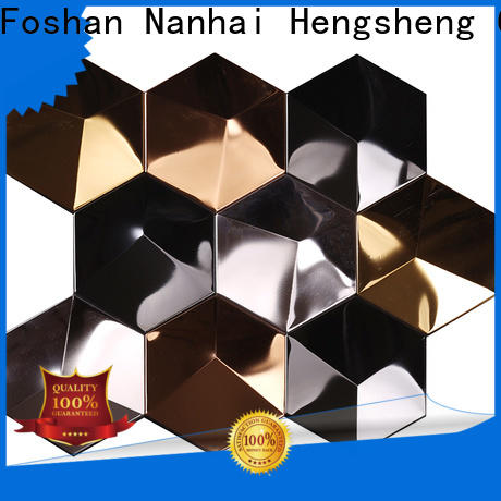 Heng Xing beveled metallic kitchen tiles manufacturer for kitchen