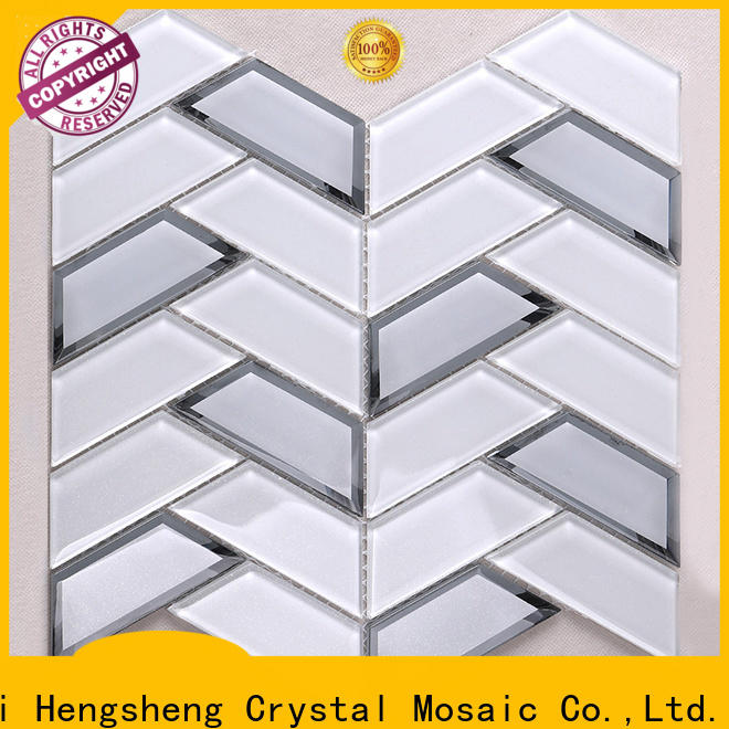Heng Xing iridescent white crackle tile factory price for living room