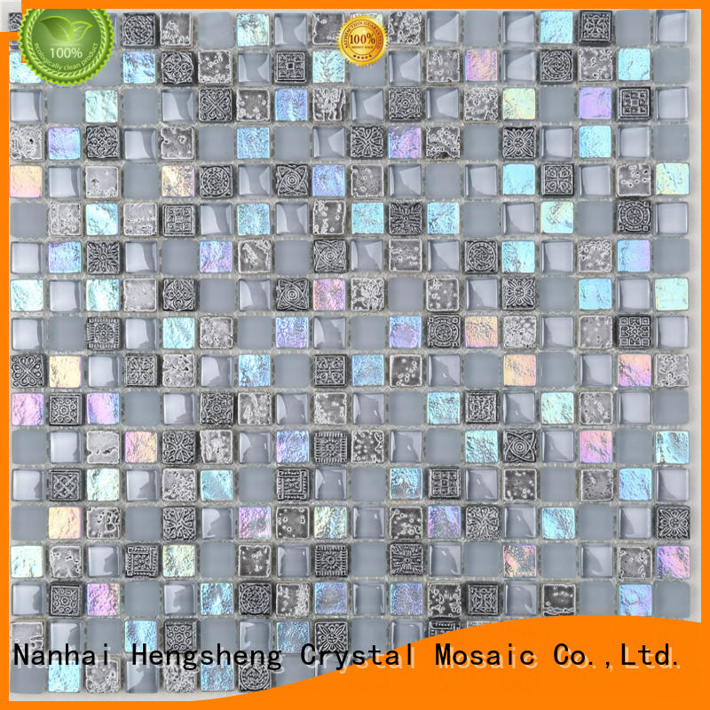 Heng Xing iridescent glass quarter round company for villa