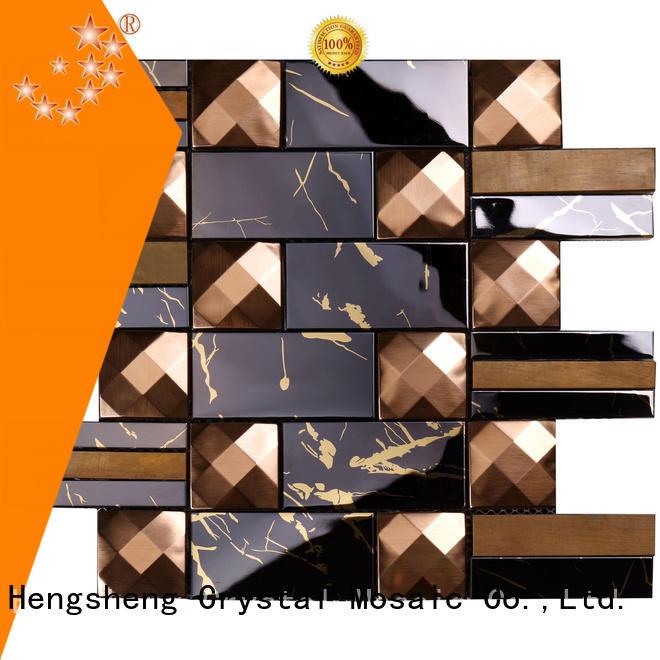 rose metallic kitchen tiles black for hotel Heng Xing