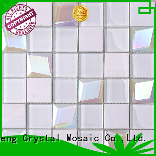 Heng Xing decor red glass tile factory price for hotel