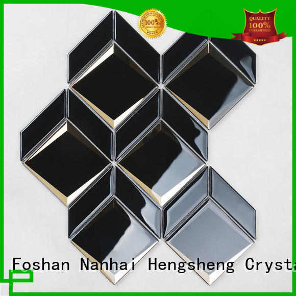 Heng Xing electroplated blue glass tile backsplash supplier for hotel