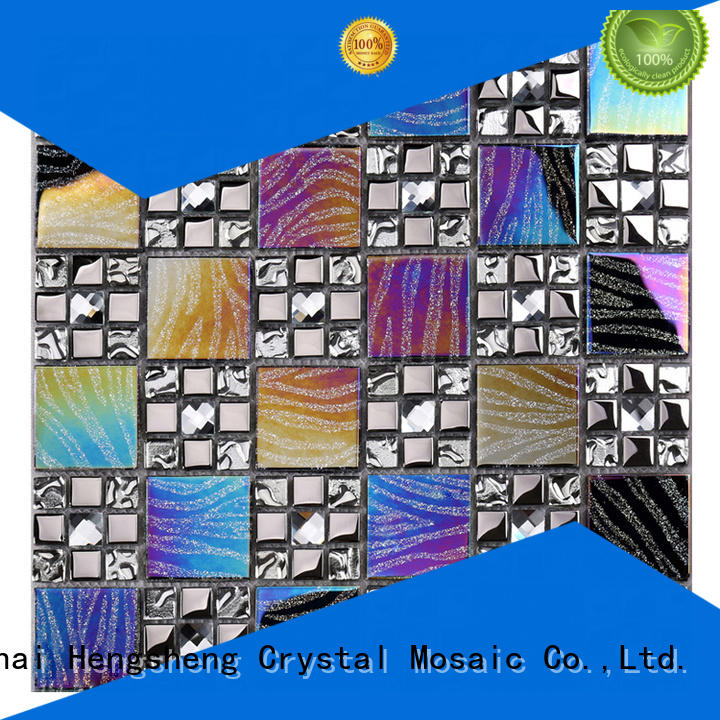 Heng Xing beveling pool tile glass manufacturers for villa