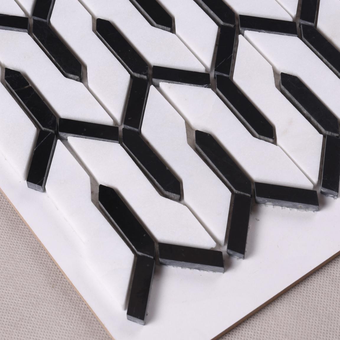 Heng Xing flower slate mosaic tile with good price for kitchen-3