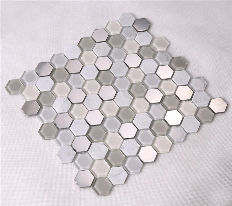 3x3 marble mosaic tans factory price for living room-2