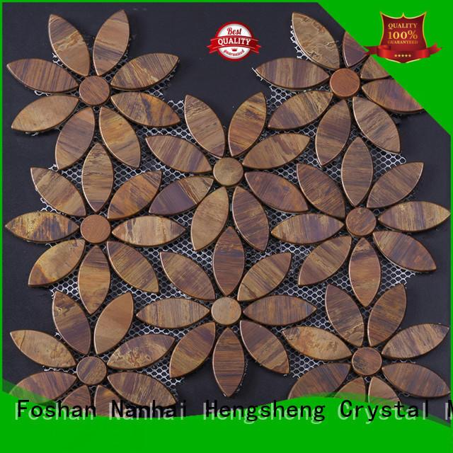 mosaic glass tile backsplash gray for hotel Heng Xing