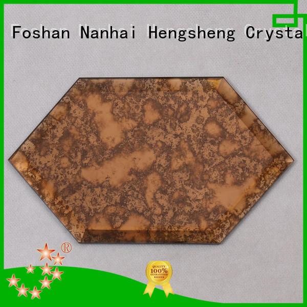 Heng Xing beveling metallic glass tile wholesale for living room