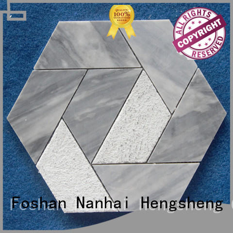 Heng Xing flower stone mosaic tile design for hotel