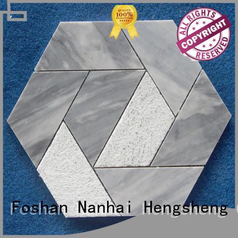 Heng Xing flower stone mosaic tile design for hotel