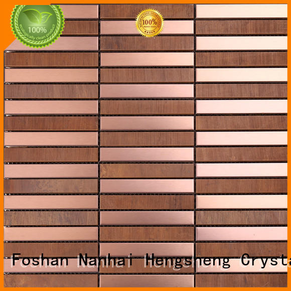 Heng Xing gold mosaic floor tiles from China for villa