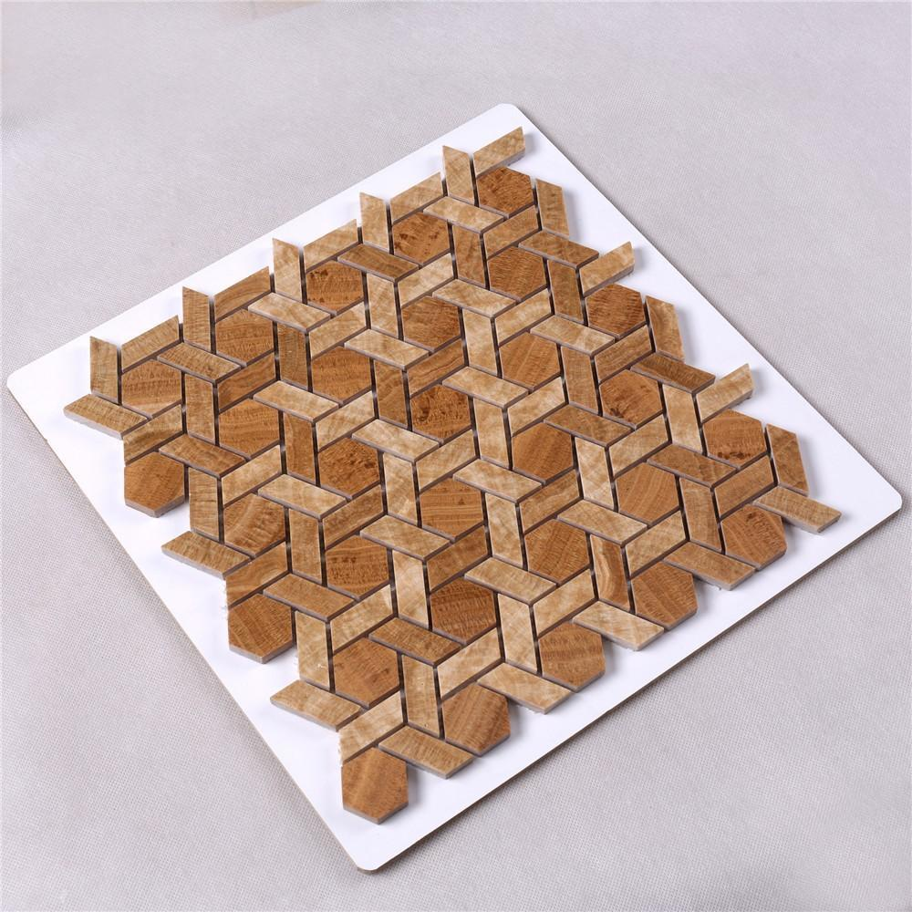 quality glass mosaic tiles flower from China for kitchen-2