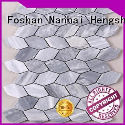 Heng Xing hexagon glass mosaic tiles manufacturers for villa