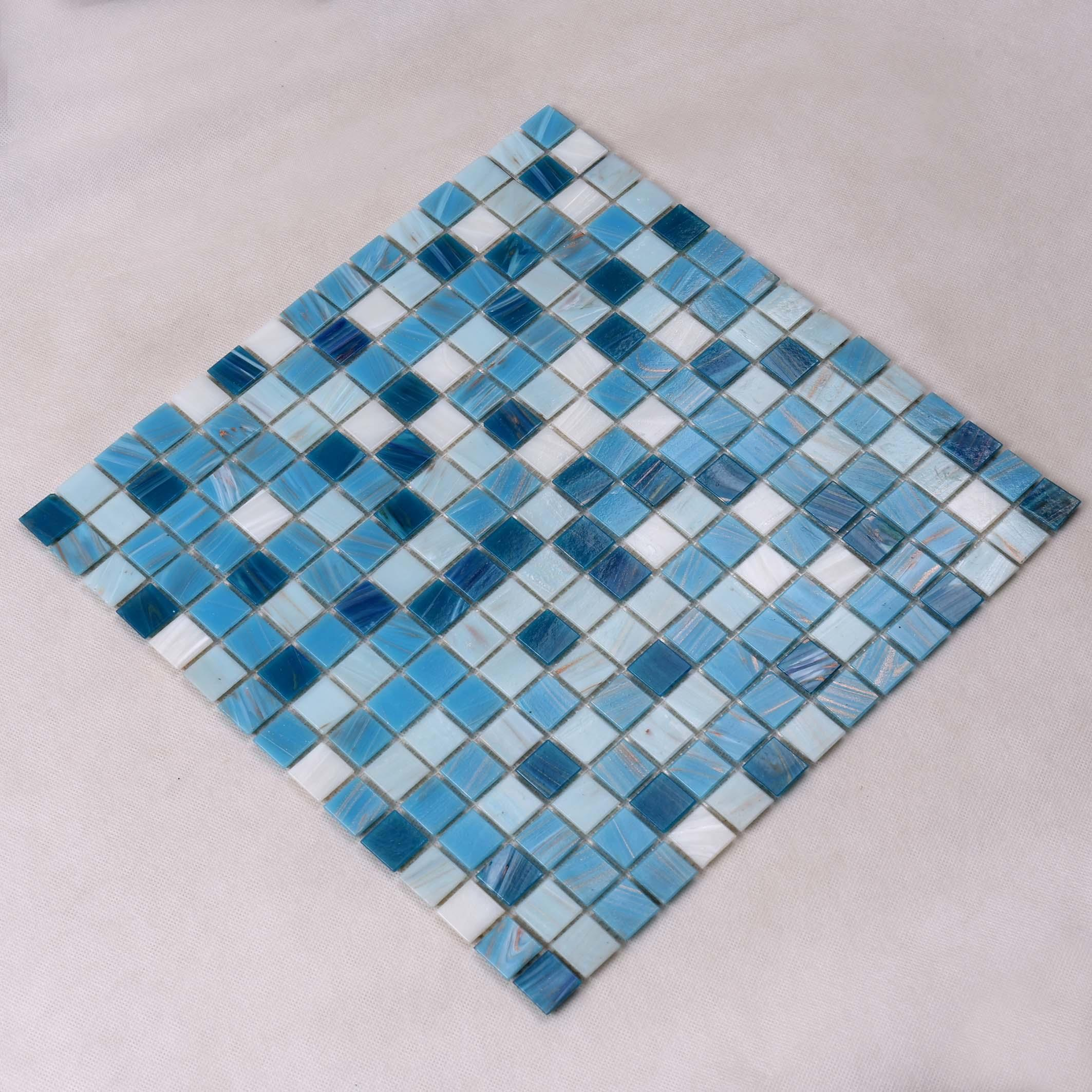 Heng Xing blue pool mosaics Supply for spa-3