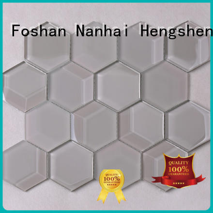 Heng Xing 3x4 glass tiles for kitchen golden for living room