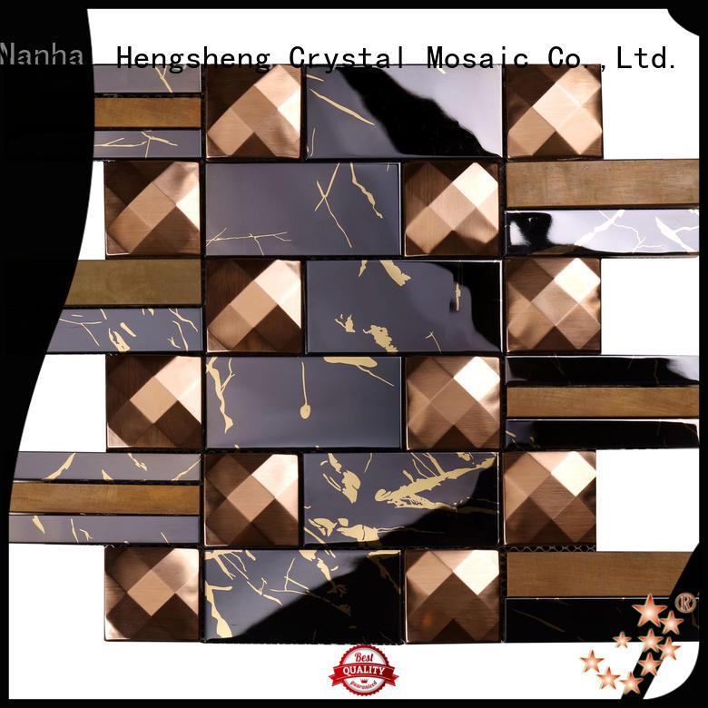 Heng Xing 2x2 metallic kitchen tiles round for kitchen