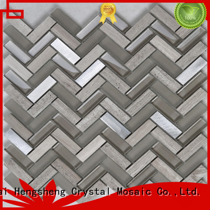 Top white glass tile metallic factory for kitchen