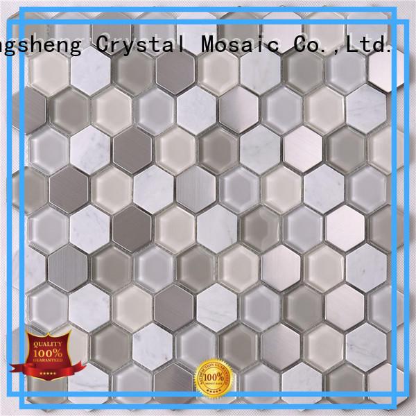 Top bliss tile backsplash metallic Supply for living room