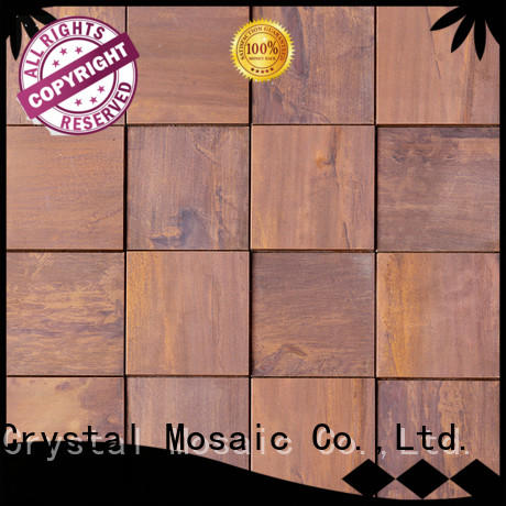 Heng Xing durable stone glass mosaic tilessmoky mountain square tiles with marble backsplash wall stickers series for kitchen