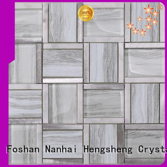 Heng Xing Carrara iridescent glass mosaic Suppliers