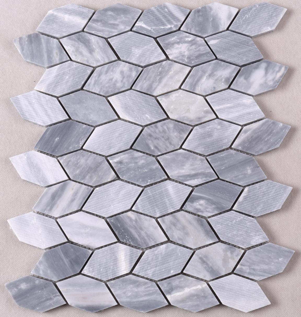 Heng Xing white marble glass mosaic tile design for living room-1
