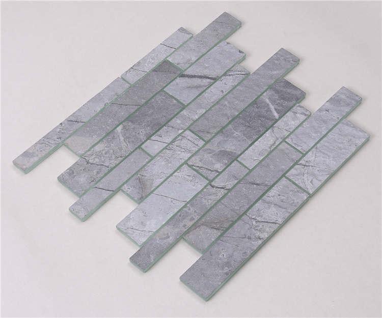 Heng Xing white gray glass subway tile backsplash for business-2