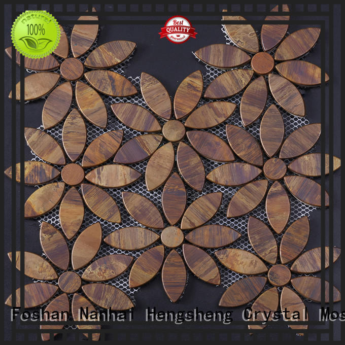 Custom all method production of glass mosaic tiles hexagon for business for kitchen