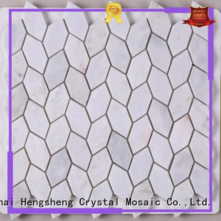 Heng Xing quality glass mosaic tiles dealers in oman directly sale for hotel