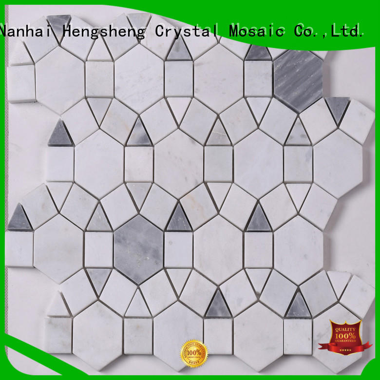 Heng Xing black marble mosaic for business for bathroom