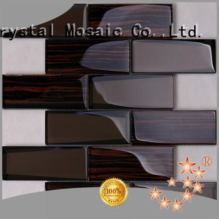 Heng Xing rose 2 inch black hexagon tile for business for villa
