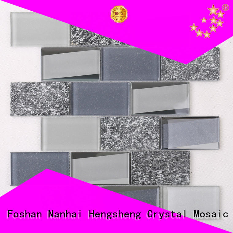 beveled sea glass tile rose factory pricefor living room