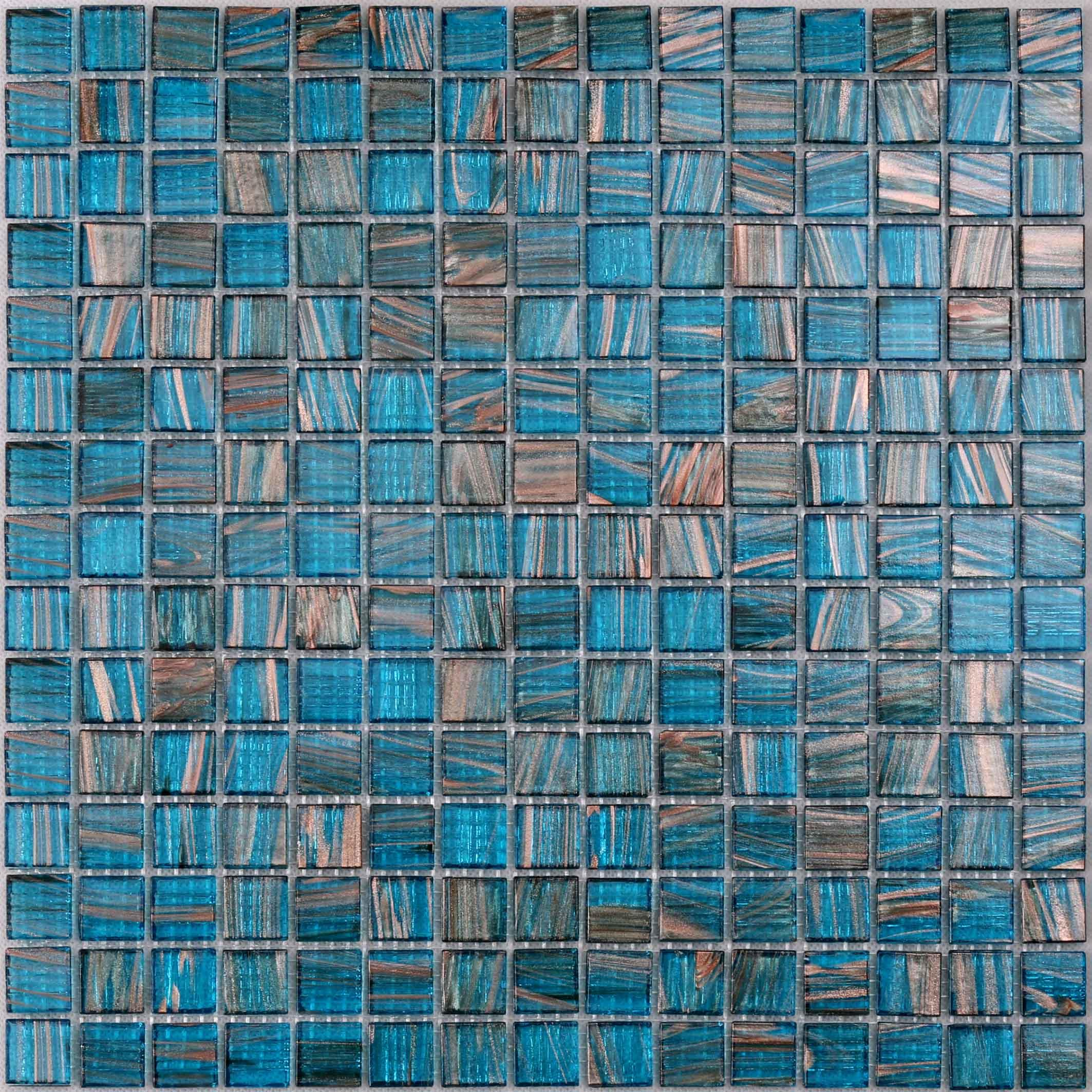 Top green glass mosaic tile floor supplier for spa-1