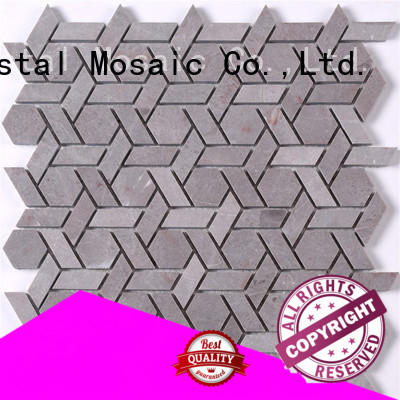 Heng Xing white lyrette artistic glass mosaic directly sale for villa