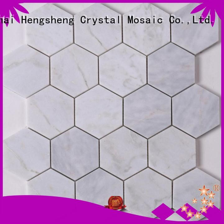 Heng Xing black stone glass mosaic tilessmoky mountain square tiles with marble backsplash wall stickers factory for living room