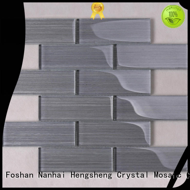 3x3 white glass mosaic tile personalized for villa