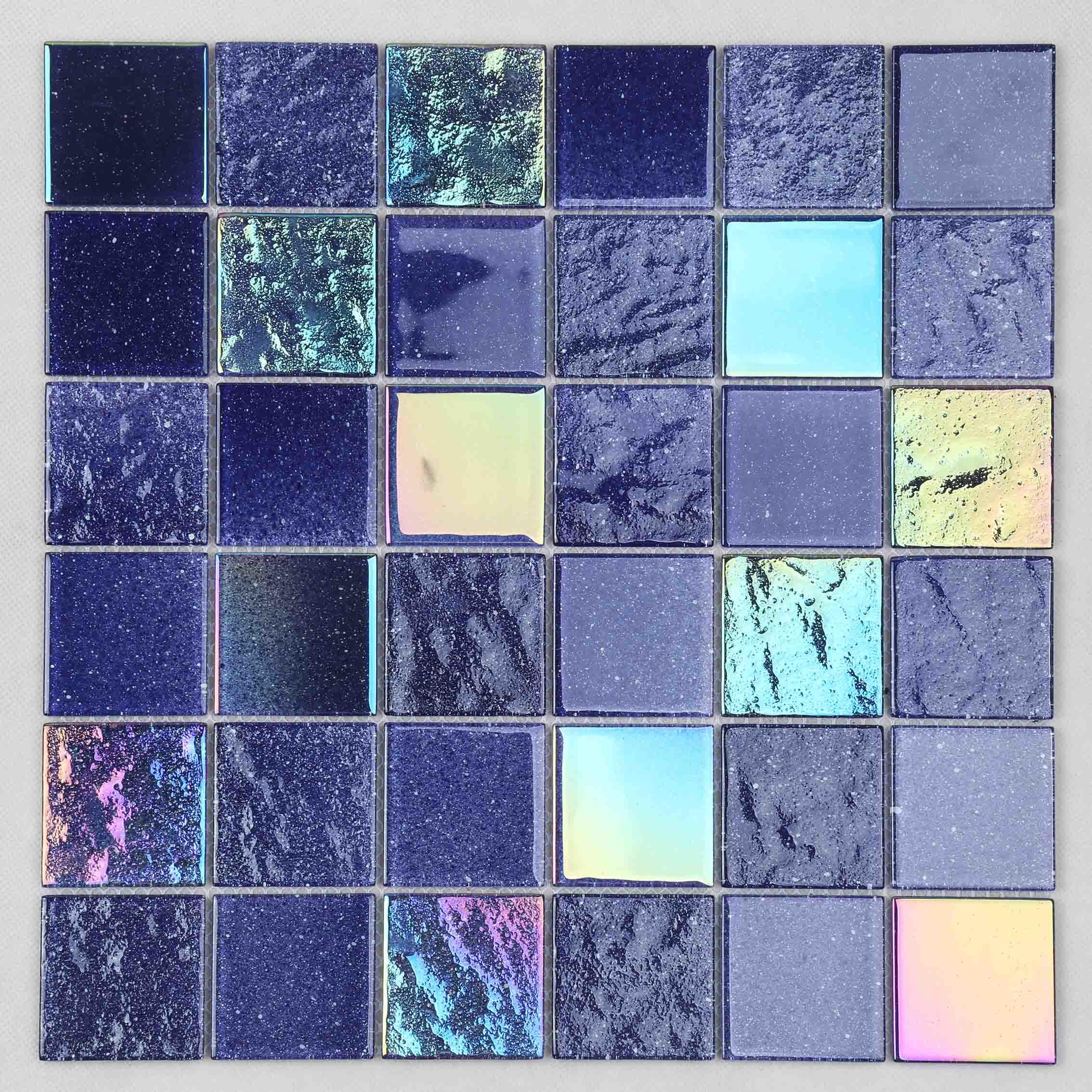 Heng Xing painted pool glass tile personalized for bathroom-2