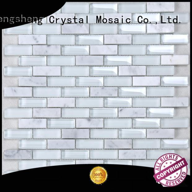High-quality gray bullnose tile splash for business for bathroom