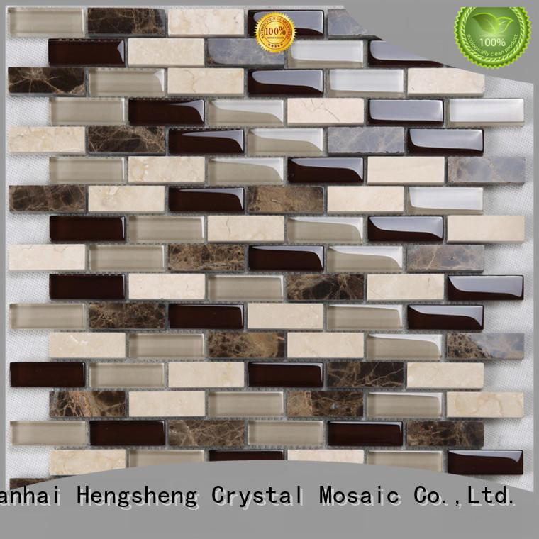 Heng Xing New light grey glass tile backsplash for business for villa