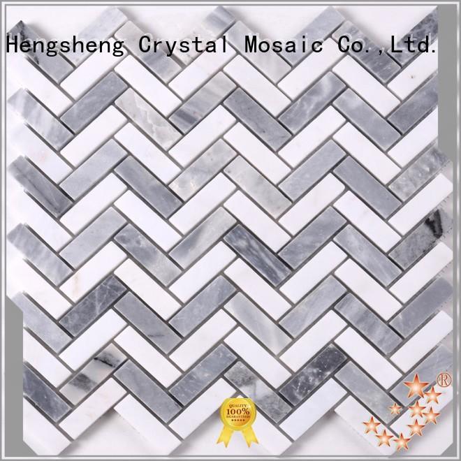 Heng Xing hexagon carrara mosaic tile with good price for hotel