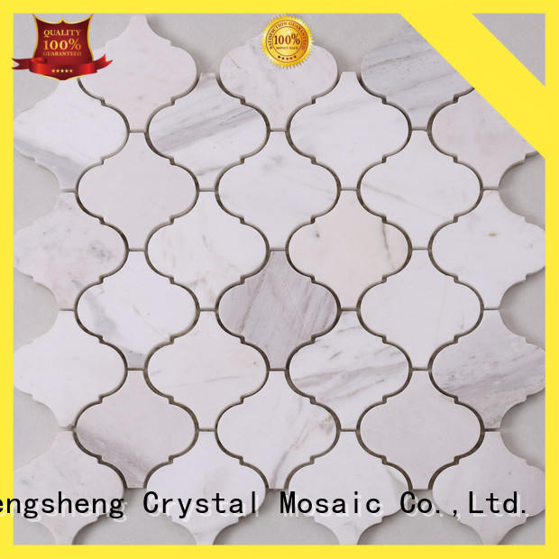 Heng Xing hexagon blue grey mosaic tiles Suppliers for kitchen