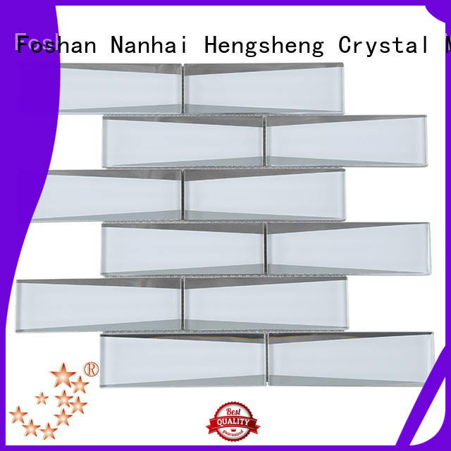 Heng Xing beveling metallic glass tile personalized for villa