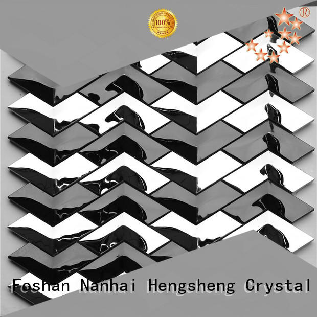 Heng Xing gray glass mosaic tiles series for hotel