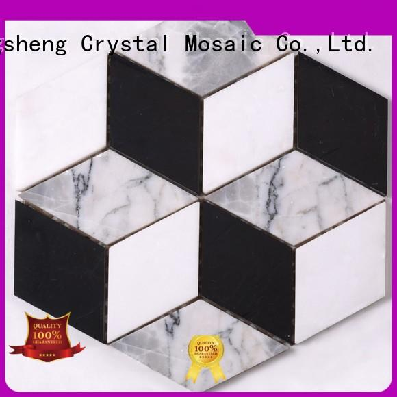 Heng Xing Latest glass mosaic tiles Suppliers for hotel