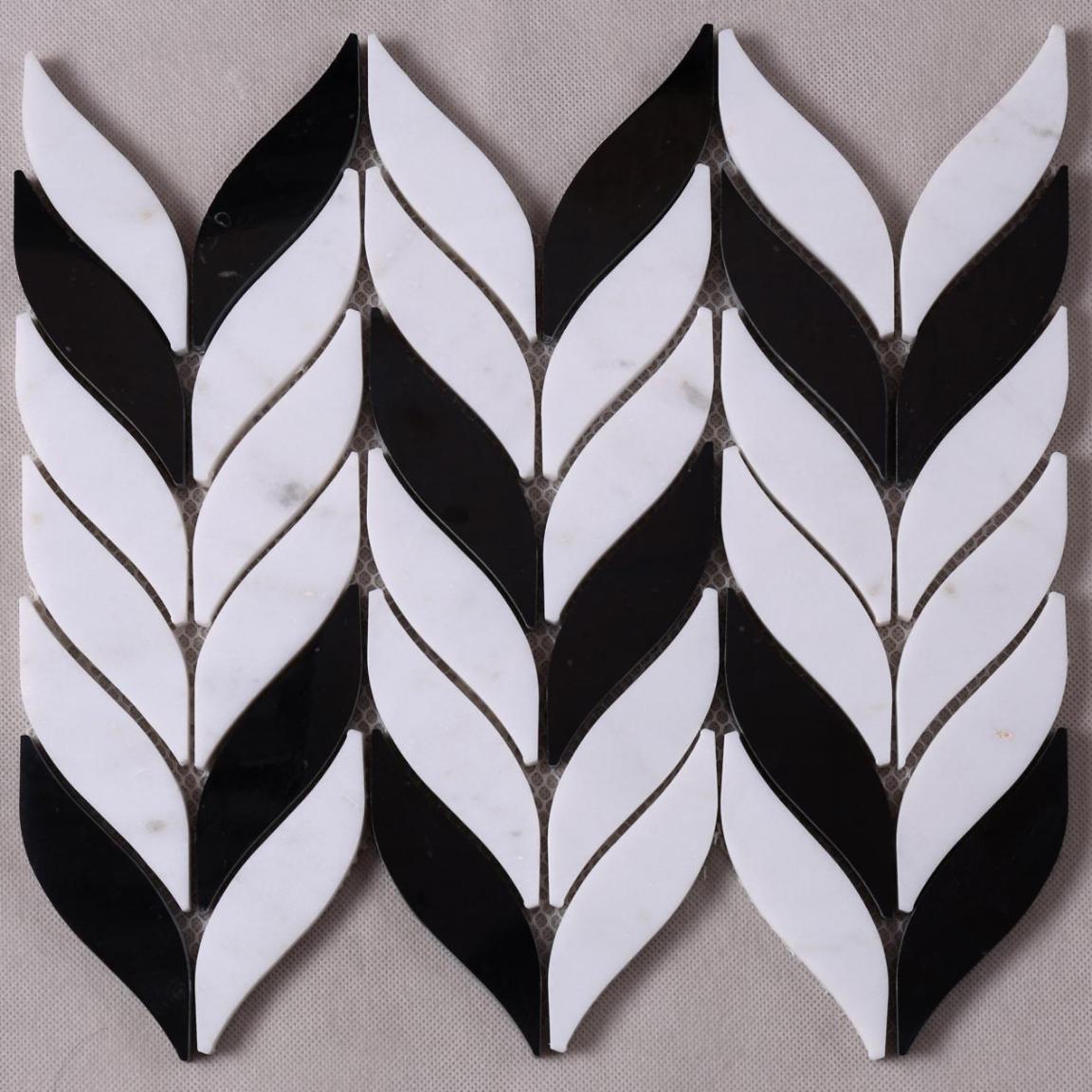 Heng Xing Custom glass stone mosaic manufacturers for bathroom-1
