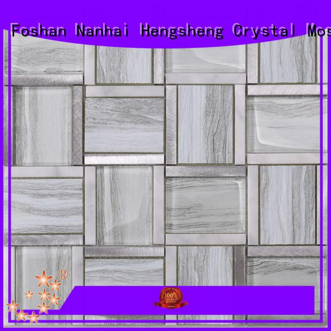 Wholesale frosted glass tile backsplash decoration manufacturers for bathroom