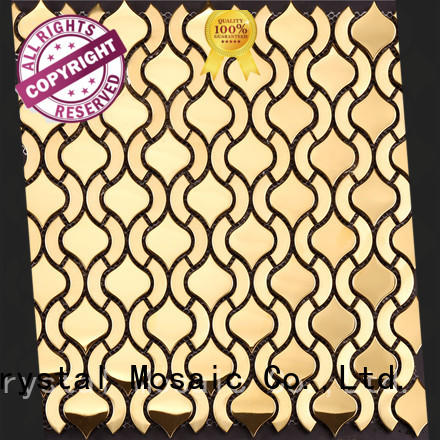 Heng Xing effect stainless steel backsplash tiles directly sale for living room