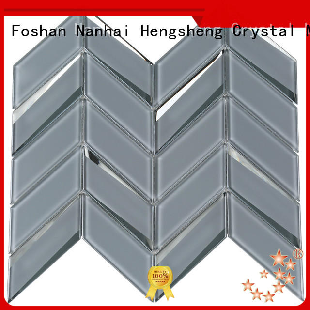 Heng Xing square glass mosaic tile backsplash trapezoid for kitchen