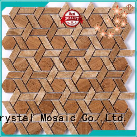 Heng Xing Custom glass stone mosaic company for kitchen