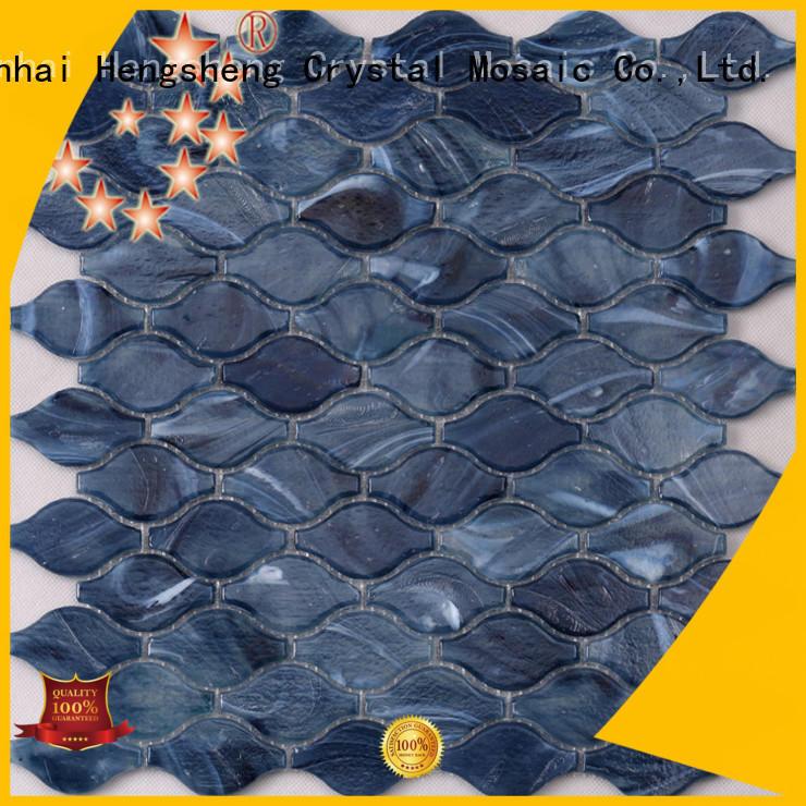ceramic herringbone glass tile waterline supplier for bathroom