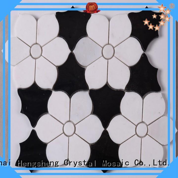Heng Xing Wholesale glass stone mosaic company for backsplash