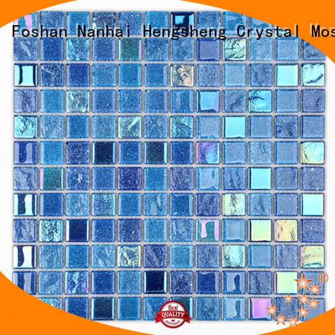 wall metallic glass tile hexagon for hotel Heng Xing